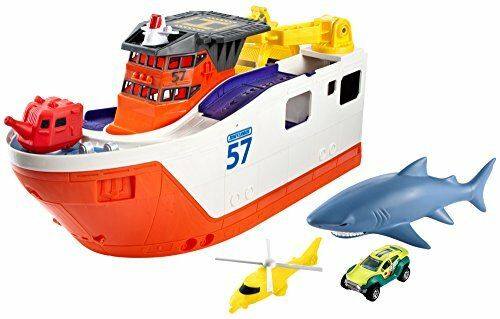 Shark Ship Toy : New matchbox mission marine rescue shark ship free