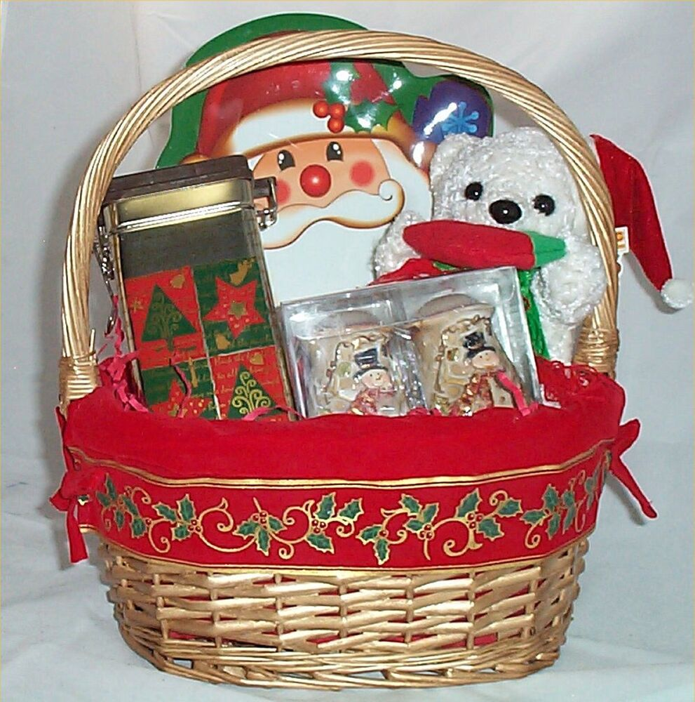 Chocolate Gift Baskets: Gift Basket Santa Holiday Candy Salt Pepper Serving Tray