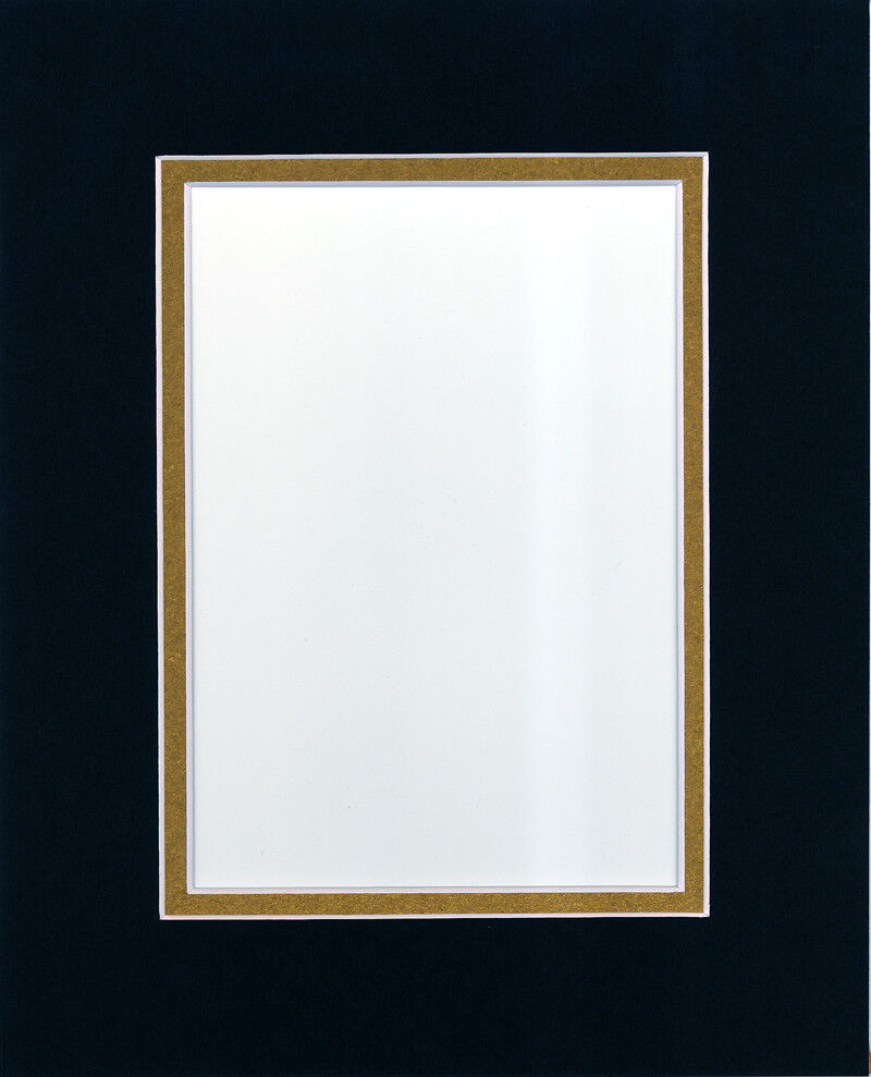 Pack Of 20 11x14 Black Gold Picture Double Mat For 8x10
