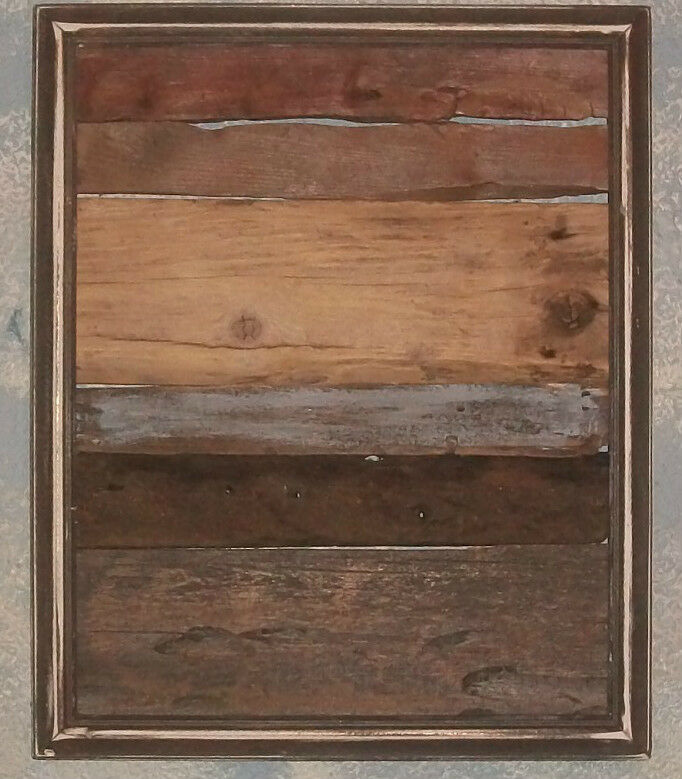 Reclaimed Barn Wood Framed Wall Art Sculpture Rustic