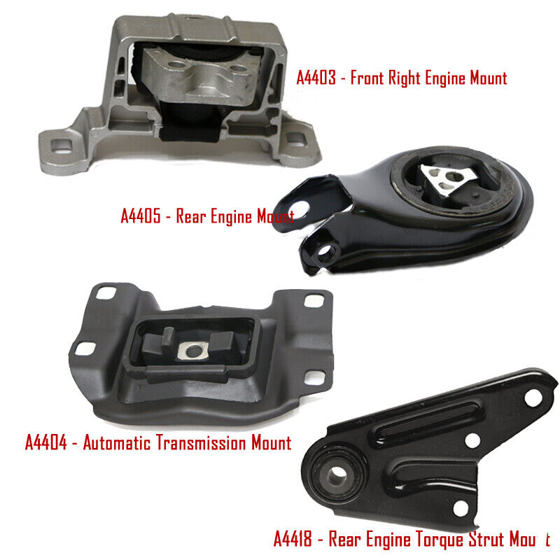 04 09 mazda 3 2 3l engine motor trans mount set 4 pcs for Mazdaspeed 3 jbr motor mounts