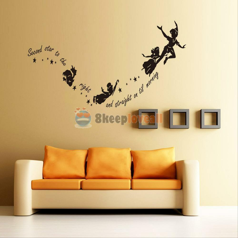 tinkerbell star peter pan wall decal kids room nursery