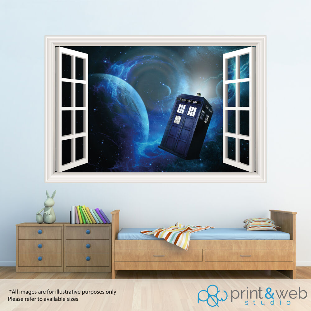 Dr Who 3d Window View Decal Wall Sticker Home Decor Art
