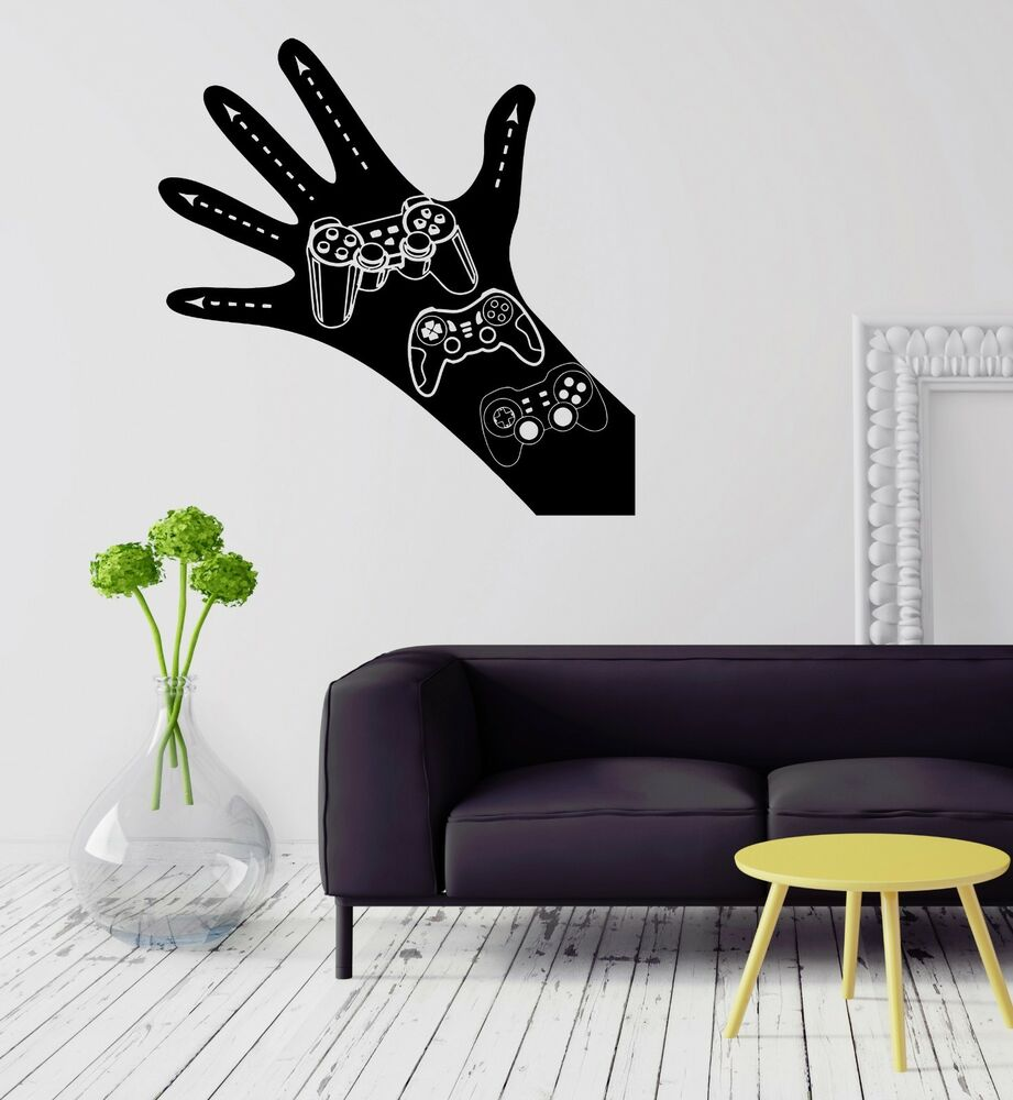 Wall Decal Gamer Video Game Hand Joystick Boys Room Vinyl ...