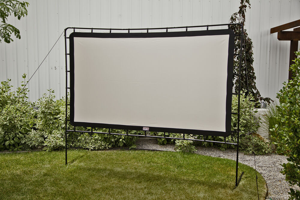 outdoor entertainment gear curved portable movie projection screen