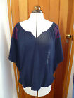 GAP BLUE ORANGE EMBROIDERED RELAXED BOHO TUNIC TOP XL L M S XS BNWT BATWING