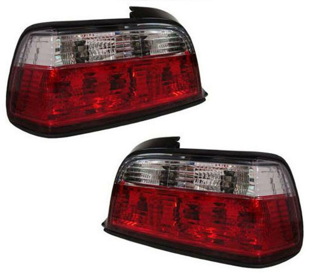 crystal red clear tail lights rear lights for bmw e36 3. Black Bedroom Furniture Sets. Home Design Ideas