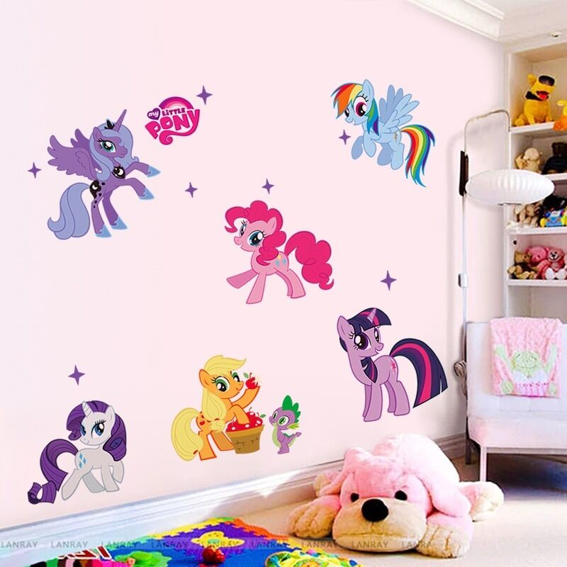 My Little Pony Vinyl Wall Decals Sticker for Kids Nursery ...