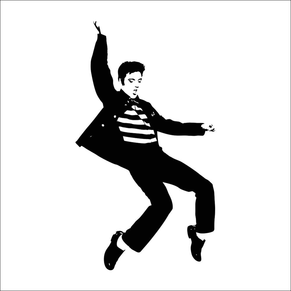 Elvis Presley Dancing Music Wall Decal Sticker Home Decor