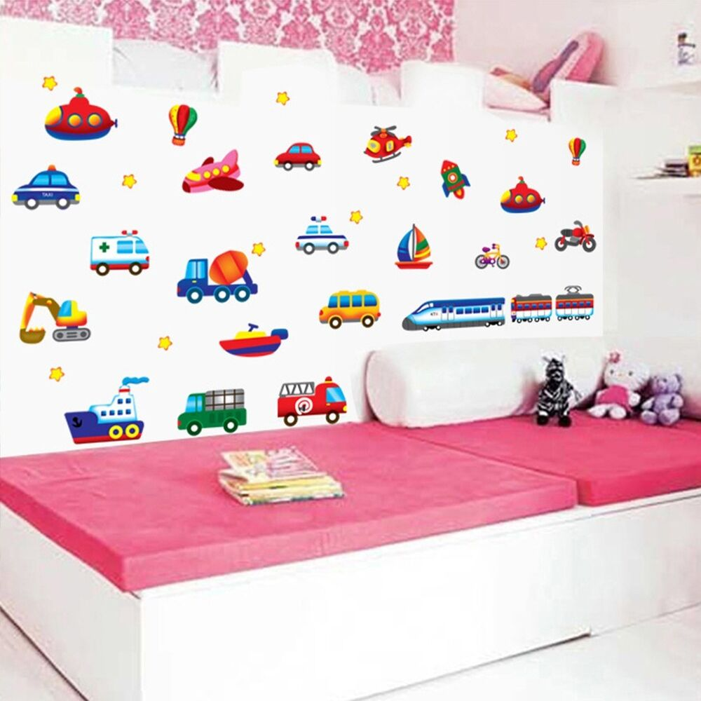 Removable sports car wall sticker decal home decor vinyl for Kids sports room decor