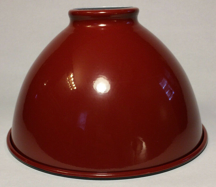"""Dome Lamp Shades: NEW 7 1/16"""" Metal Dome Lamp Light Shade Pendant Red"""