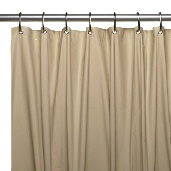 3 Gauge Vinyl Shower Curtain Liner W/ Weighted Magnets