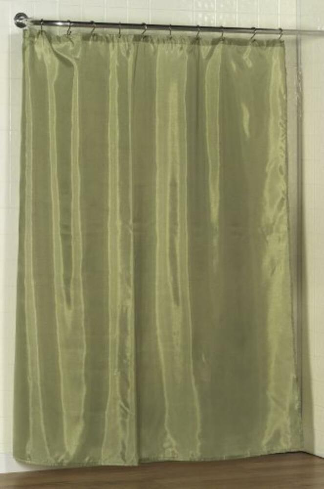 100% Polyester fabric shower curtain liner w/weighted bottom hem 70x72 ...