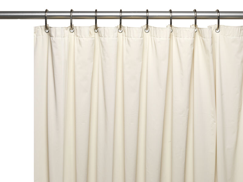 Carnation Home 3 Gauge Vinyl Shower Curtain Liner With