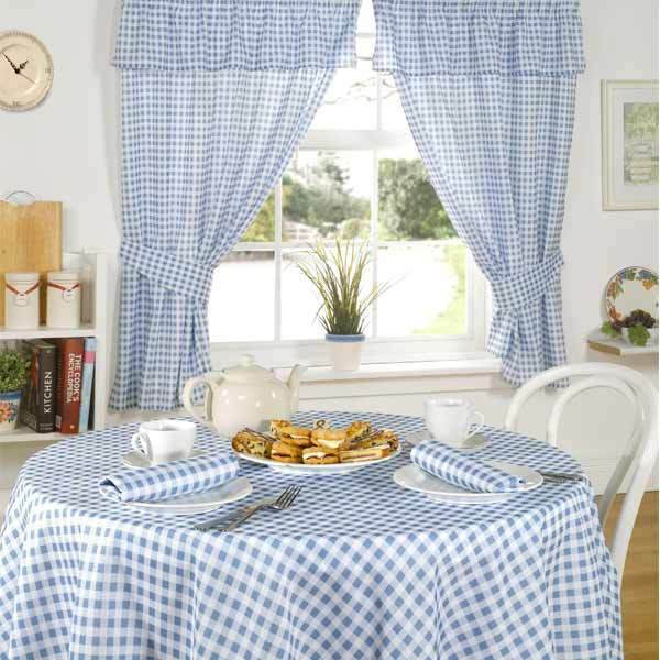 BLUE GINGHAM CHECK KITCHEN LINEN CHOICE OF 13 FAB ITEMS