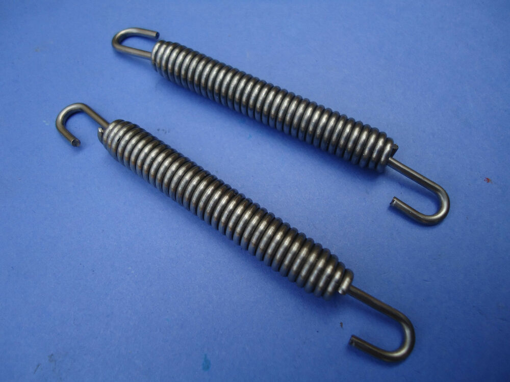 Pair of stainless steel exhaust springs mm expansion