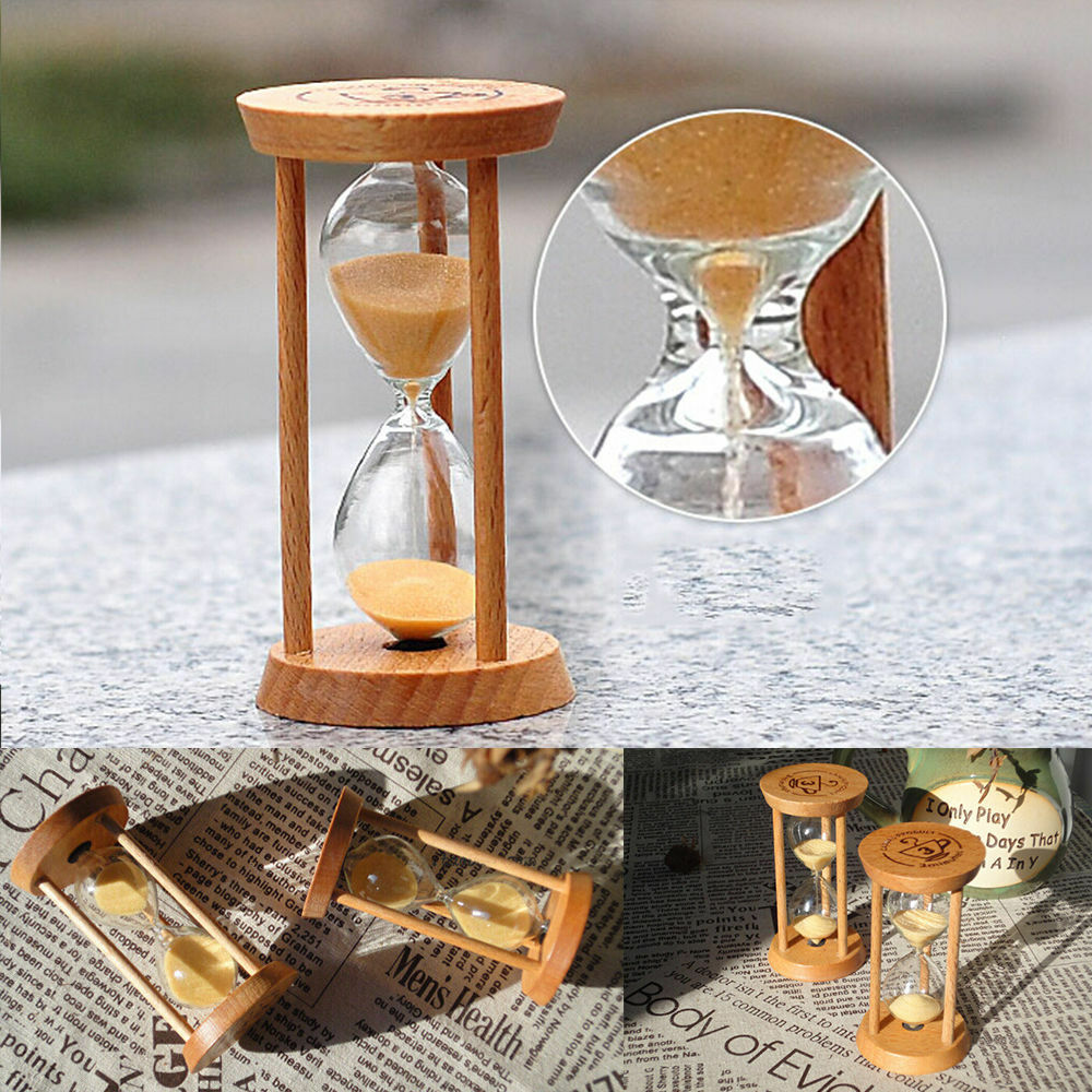 3 minutes wooden sand sandglass hourglass timer clock home
