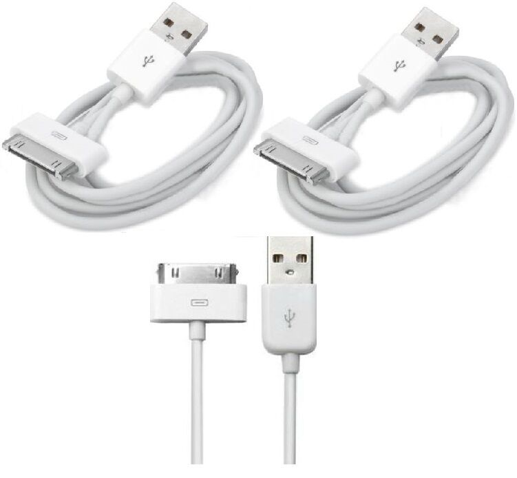 how to charge iphone 4 without charger 2 x usb sync data charging charger cable cord fits apple 2100