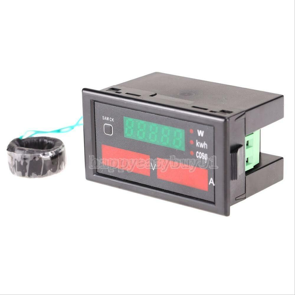Ac Amp Meter : Digital ac v a voltmeter ammeter watt power