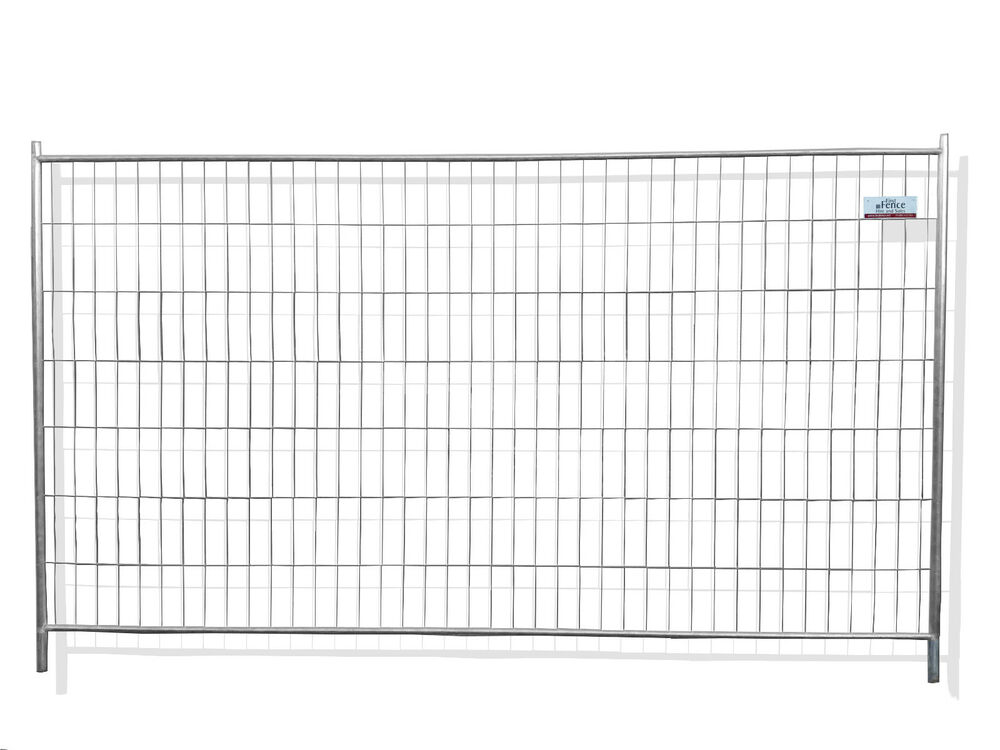Standard temporary fencing panels