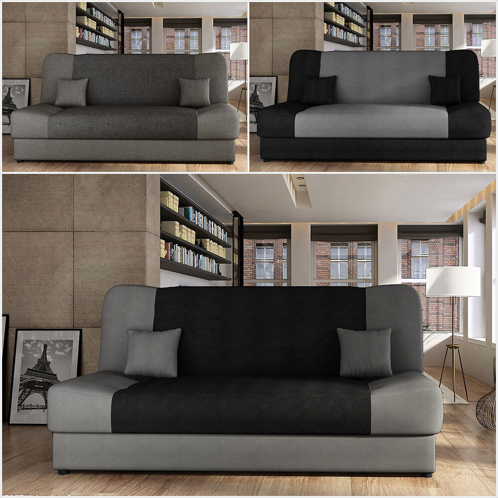 schlafsofa nella sofa couch schlafcouch wohnlandschaft mit bettkasten ebay. Black Bedroom Furniture Sets. Home Design Ideas