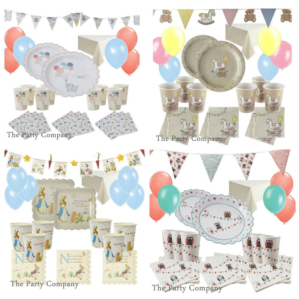 deluxe baby shower party tableware kits plates napkins more