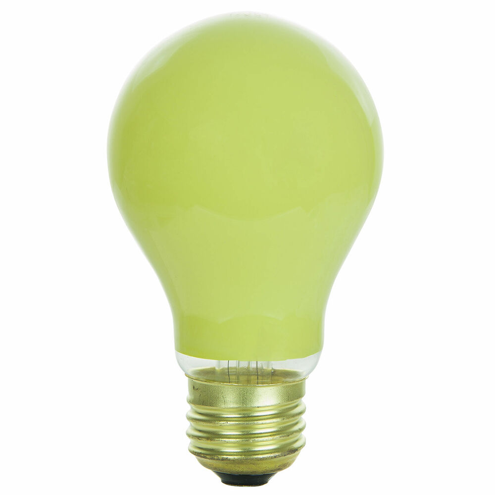 24 Pack 40 Watt A19 Yellow Bug Incandescent Medium Base Light Bulb Ebay