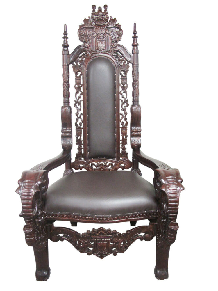 New high end solid mahogany hand carved kings chair for New chair design