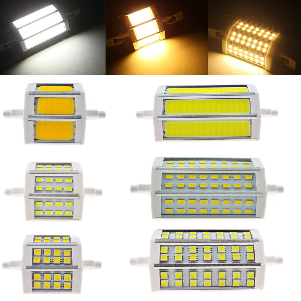 Dimmable r7s smd cob j78 j118 78mm 118mm led corn bulb for Lampadina r7s led 78mm