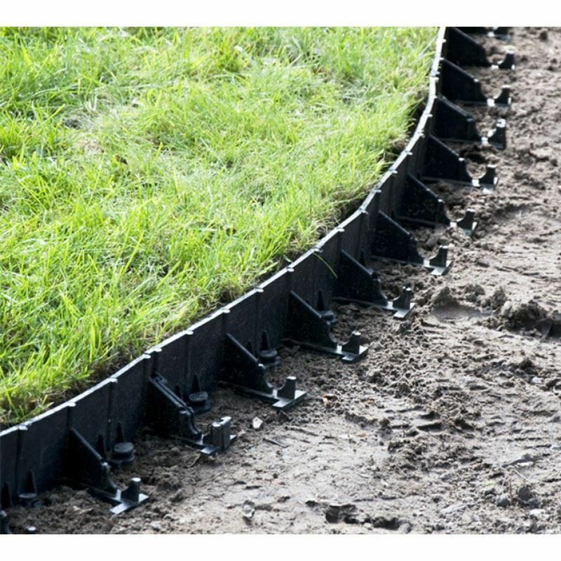 Flexible garden lawn grass edge edging border 45 78mm for Bordures jardin pvc
