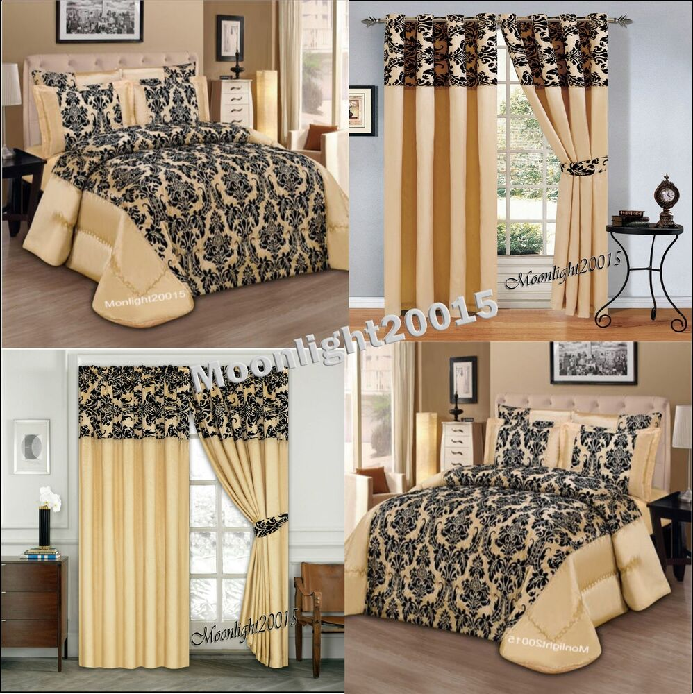 Bedspread Luxury 3 Pc Piece Gold Comforter Set Bedding