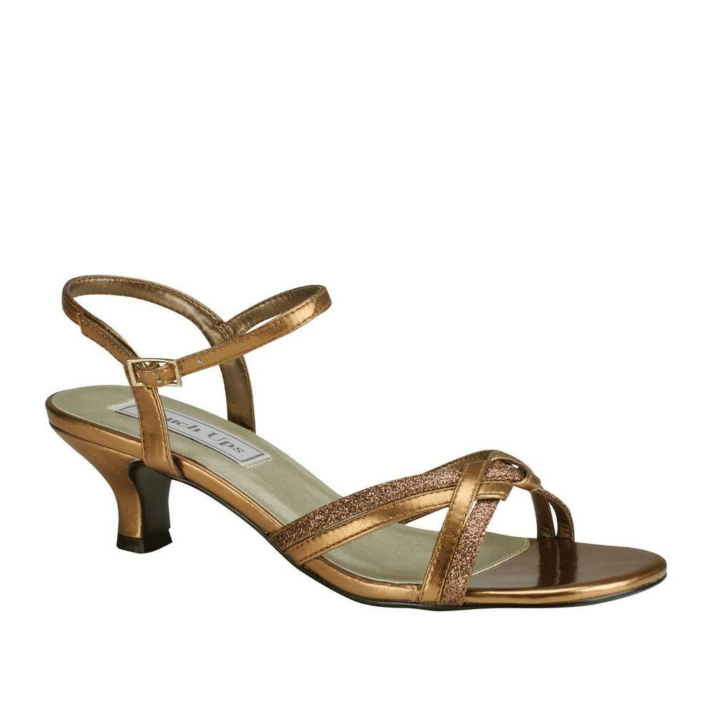 Low Heeled Shoes Bronze Or Silver