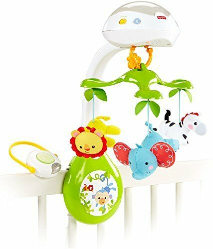 Fisher price deluxe projection mobile unisex rainforest friends crib mobile ebay - Fisher price cuna ...