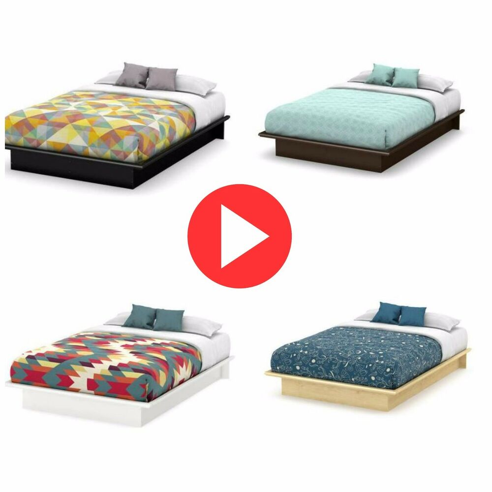 Queen Size Platform Bed Frame Different Colors Bedroom Furniture Modern Ebay