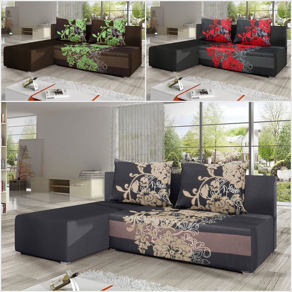 eckcouch ecksofa berry sving couch schlaffunktion bettfunktion mit bettkasten ebay. Black Bedroom Furniture Sets. Home Design Ideas