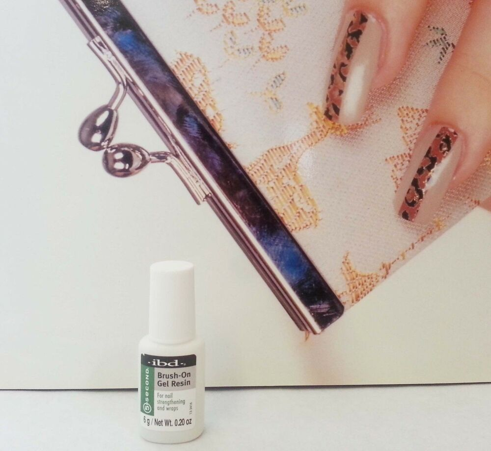 Brush On Nail Gel: 5 SECOND BRUSH ON GEL RESIN 6g For Nails Wrap And Repairs
