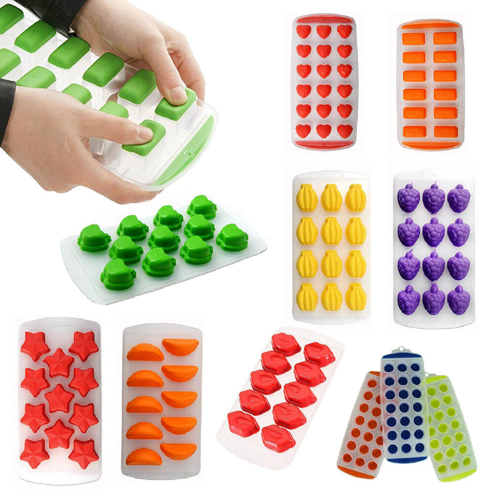 Easy Push Pop Out Ice Cube Tray With Ez Flexible Silicone