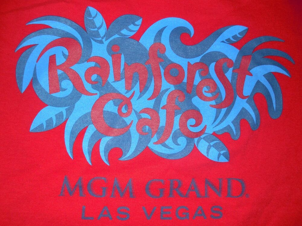 Rainforest cafe mgm grand las vegas original t shirt mens for Rainforest t shirt fundraiser