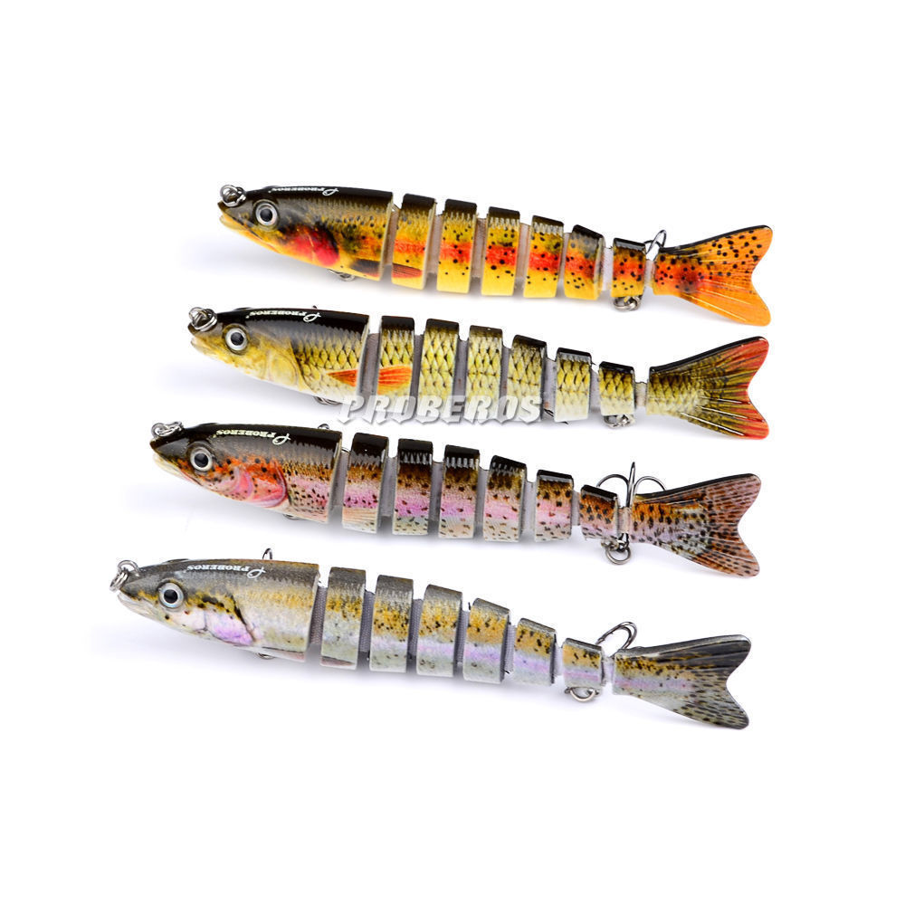 4pcs swimbaits 8 jointed fishing lures baits bass big for Bass fishing lures