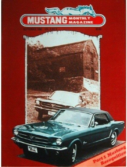 ford  mustang monthly september 1980 65 recognition