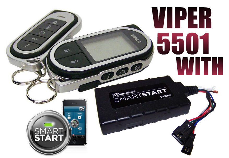 viper 5501 with smart start module car remote start keyless entry 2 way system ebay. Black Bedroom Furniture Sets. Home Design Ideas