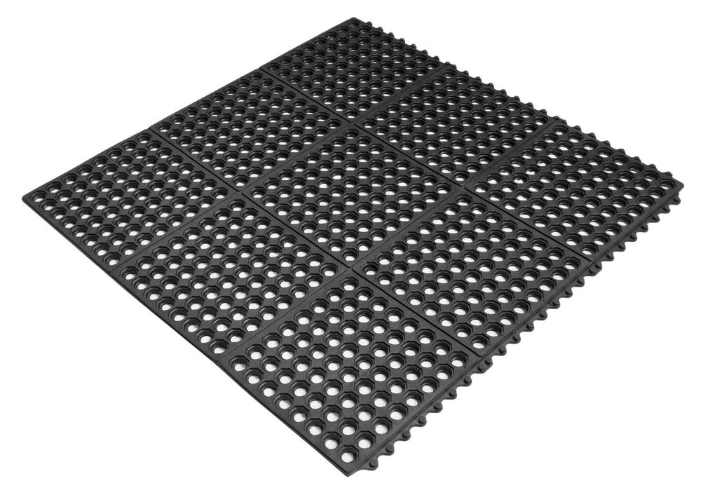 Rubber Interlocking Grass Mat With Holes Drainage Inside