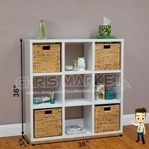 9 Cube Bookcase Furniture Books Living Room Storage