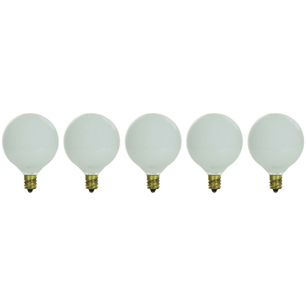 5 Pack 10 Watt G11 White Decorative Globe Candelabra Base Light Bulbs 10w New Ebay