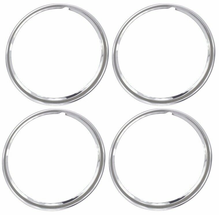 16 chrome stainless steel hot rod style smooth beauty rings trim ring set of 4 ebay Style me up fashion trim rings