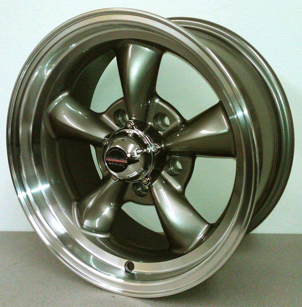 REV CLASSIC 100 5 SPOKE STYLE GRAY WHEELS 15X7 15X8 FORD