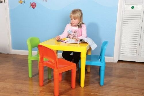 Kids Table 4 Chair Set Toddler Playroom Furniture Play