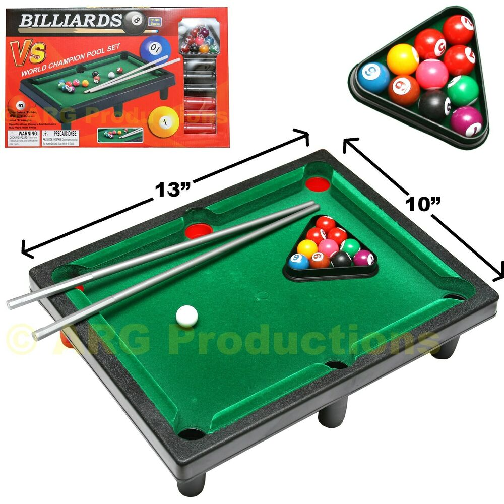 New Box Games : Top table pool billiard toy game board games set new in