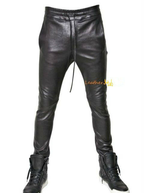 Original FAB FINDS Yes Leather Jogging Pants Is A Thing  HelloBeautiful
