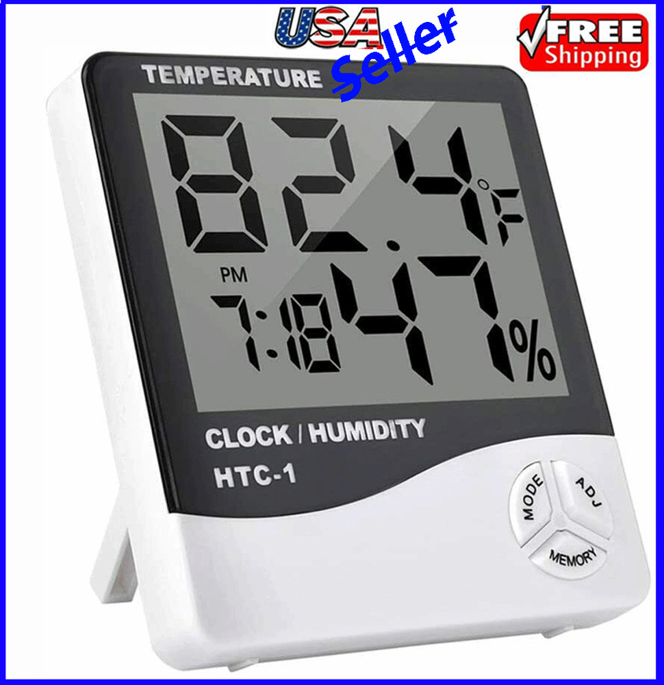 Thermometer Indoor Digital Lcd Hygrometer Temperature